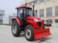 Gear Drive 4 Wheel Tractor , Power Steering Dual Speed PTO Agricultural Machinery