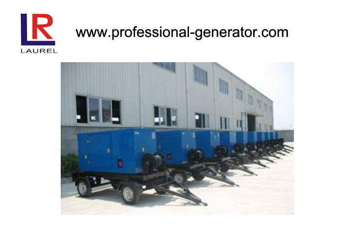 40kva Water Cool Mobile Power Generator With Trailer , 4 In Line 40kw Cummins Engine