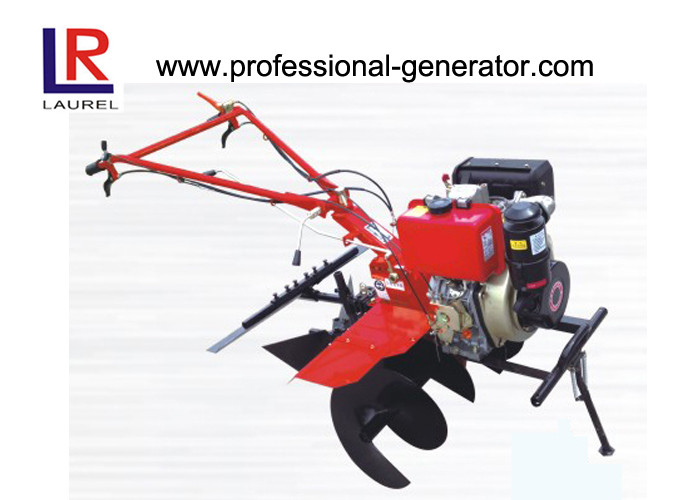 Paddy Land Mini Tiller Cultivator , 35cm Ridging Height Small Garden Rototiller