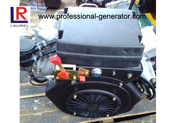 Two V - twin Cylinder Small 22 HP Industrial Diesel Engines with 4 Stroke Engine