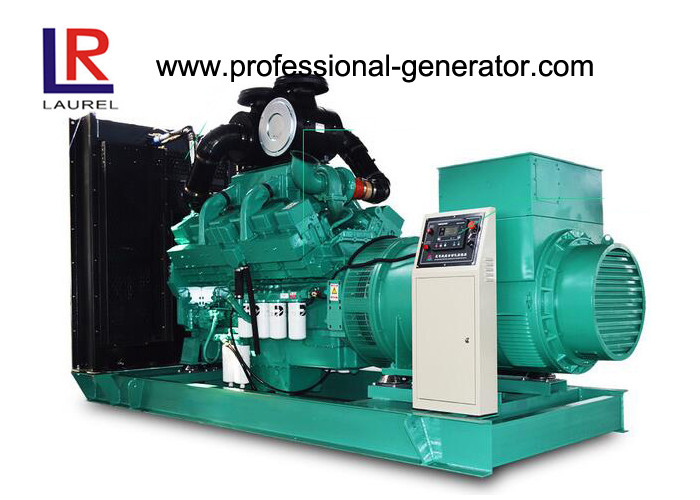 Open Frame 500kva Diesel Power Generator Set with Cummins Engine 400V / 230V