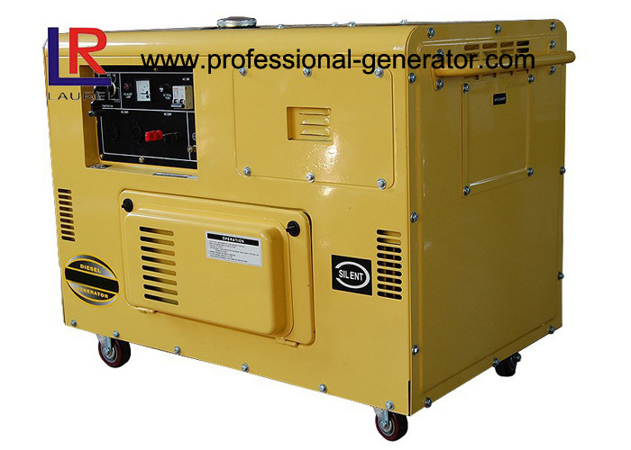 Soundproof Air Cooled 10kVA Double Cylinder Diesel Generator with Recoil / Electric Start