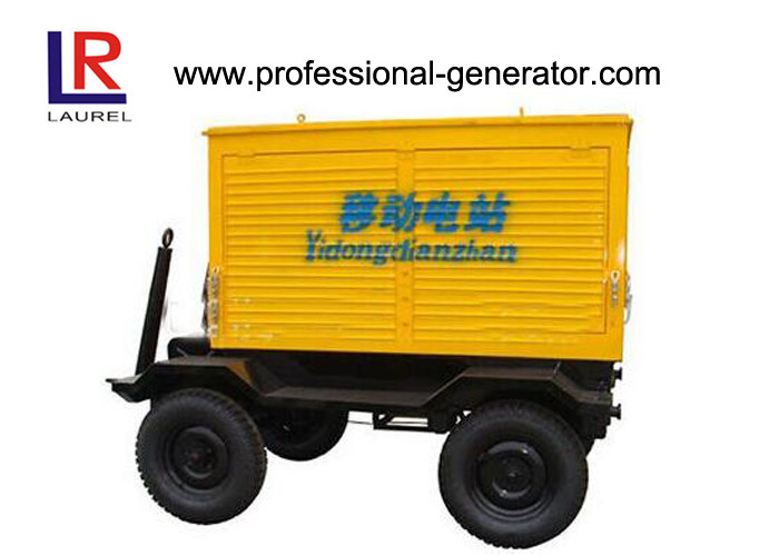 80kW / 100KVA Mobile Power Generator Sets 60Hz , 4 Cylinders Closed Water Cooled