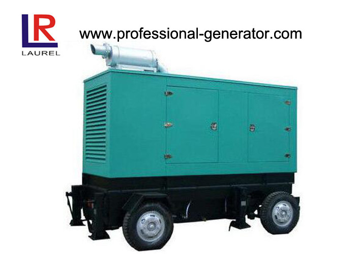 Green Diesel Trailer Mobile Electric Power Generators Three Phase