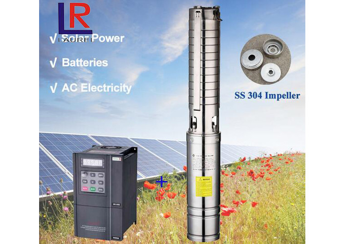 3 Inch 1.1kw Irrigation Water Pump 65m , High Pressure Solar Water Pump