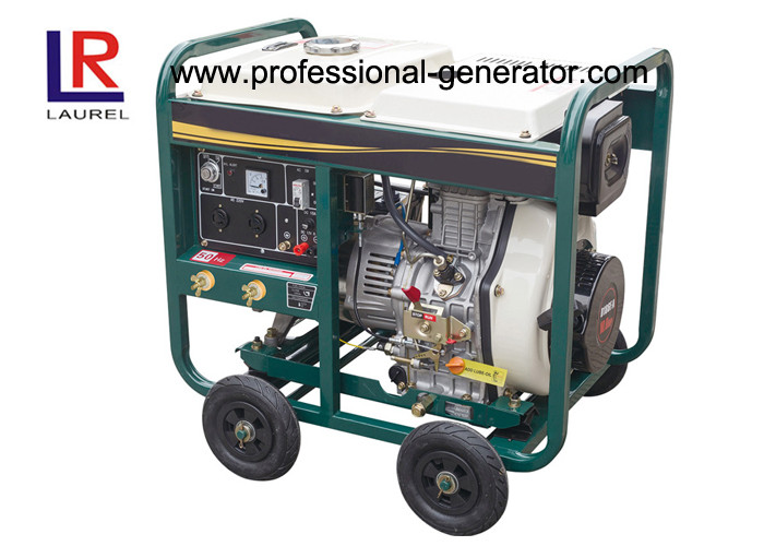 4 - Stroke Portable 5kw Diesel Generator , Small Diesel Power Generator with Manual / Electric start