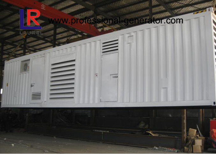 CE Approved Water Cooled Container Genset with Brushless AC Three / Single Phase