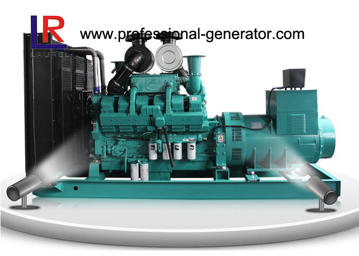 OEM 400V Open Diesel Generator Cummins , 600kw Diesel Generating Set with Electric Motor