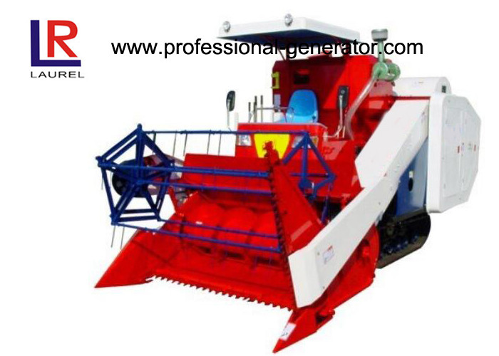 Self Propelled Rice Wheat Combine Harvester Machine Lower Lose Rate High Efficiency