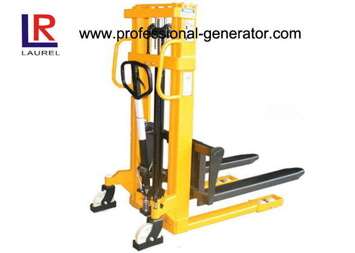 Manual Warehouse Material Handling Equipment Double Mast Structure Hydraulic Hand Stacker
